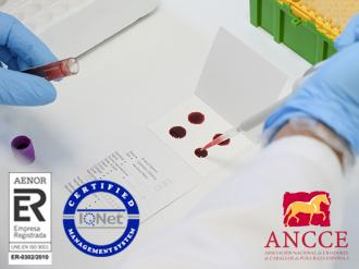ANCCE | The PRE Stud Book incorporates its Laboratory into its ISO 9001:2015 certification